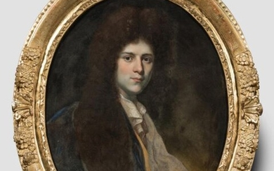 """French school end of the 17th century - """"Portrait of..."""