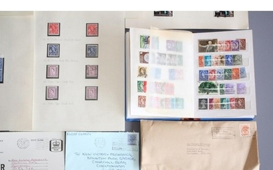 GB Stamps in albums, commemorative covers, mostly GB, togeth...