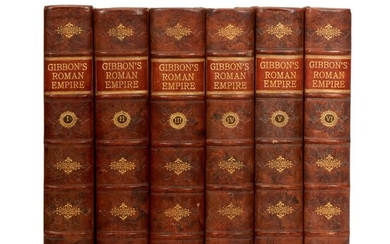 GIBBON, E. | History of the Decline and Fall of the Roman Empire, 1776-1788, 6 volumes