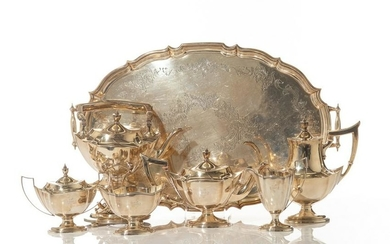 GORHAM SILVER TEA & COFFEE SERVICE, 3446g
