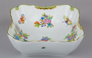 Herend Queen Victoria Square Shaped Salad Bowl