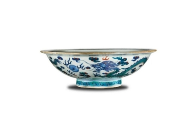 Imperial Chinese Doucai Dragon Bowl, Daoguang