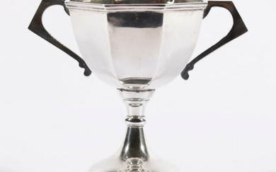 Indian Sterling Silver Trophy, Cooke & Kelvery c1910 (H:12cm)