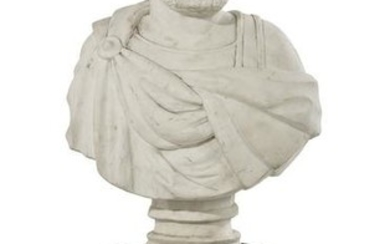 Italian Carved Marble Bust of Caracalla