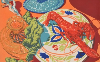"Jack Beal ""Lobster"" Lithograph, Signed Edition"