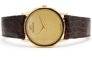 Jaeger-LeCoultre, A Gold, Enamel and Leather Wristwatch