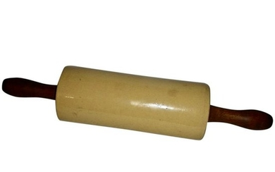 Large Yellow Ware Rolling Pin