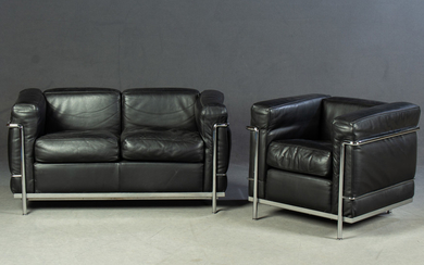 Le Corbusier. Sofa and chair, model 'LC 2' (2).