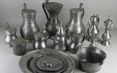 Lot various old / antique pewter.&#160 Among other