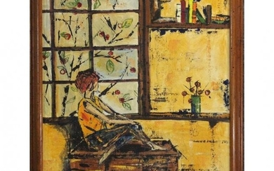 Marie Dixon, Mid-Century Modern O/b Looking Out Window