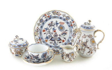 Meissen porcelain individual tea set (6pcs)