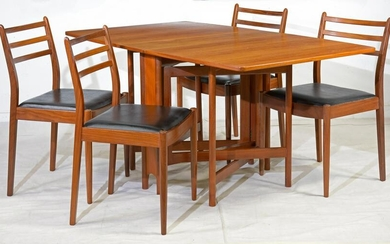 Mid Century Drop Leaf Dining Table & Chairs - G-Plan
