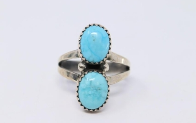 Native American Navajo L.B Turquoise Ring