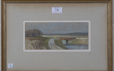 Norman Battershill - 'Farmhouse at Lower Beeding, Sussex', mid-20th century oil on board