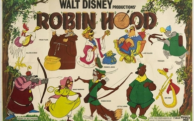 Original Movie Poster Robin Hood Walt Disney Animation