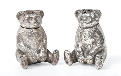 A Pair of Edward VII Silver Novelty Pepperettes, by Gourdel...