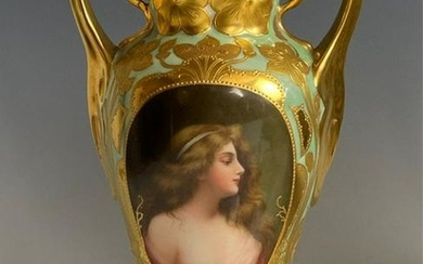 ROYAL VIENNA PORTRAIT VASE