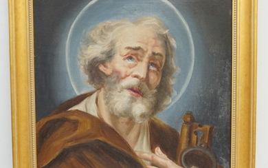 ST PETER WITH KEYS 19TH C