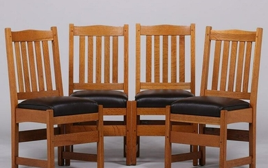 Set of 4 L&JG Stickley #808 Dining Chairs c1908-1912