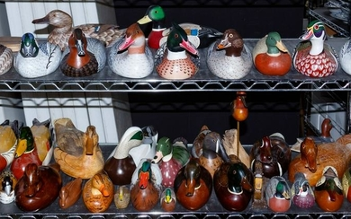 Signed Carved Wood Duck Decoy Assortment