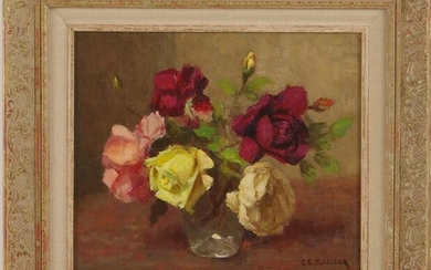 Signed Schluter, Carl Eberhard 1886-1973, Roses in a