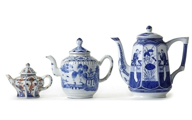 THREE CHINESE TEAPOT, 18TH CENTURY AND LATER