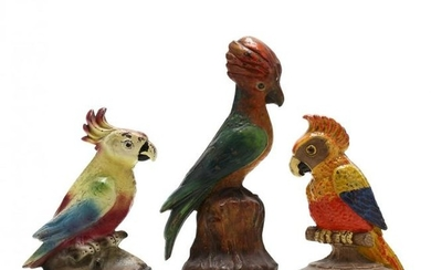 Three Vintage Cockatoo Door Doorstops