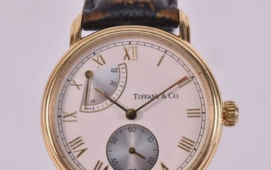 Tiffany Men's 18K Yellow Gold Wristwatch
