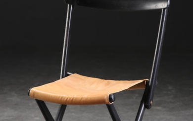 Torsten Johansson. Folding chair / stool in oak for AJ. Iversen