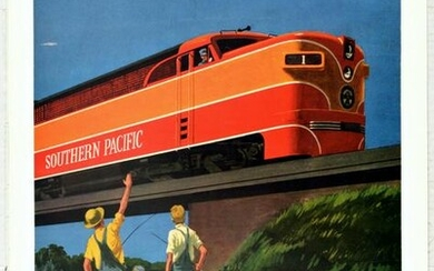 Travel Poster Sunset Limited Southern Pacific Railway