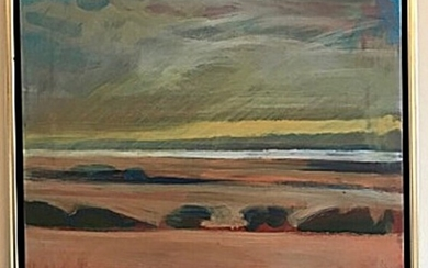 Ulrik Hoff: Landscape. Signed Ulrik Hoff. Oil on canvas. 45.5×52 cm.
