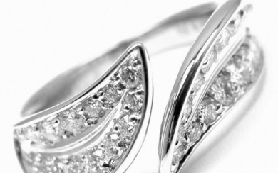 Van Cleef & Arpels 18k White Gold Diamond Band Ring