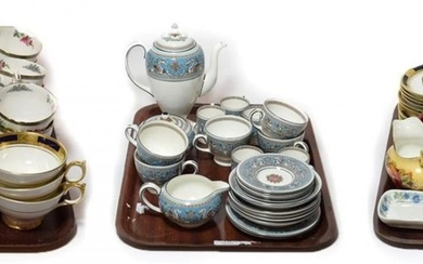 Various tea and coffee wares including Wedgwood Florentine, Aynsley Empress,...