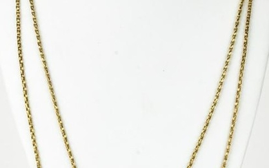 Victorian 9 Carat Gold Guard Chain with Slide