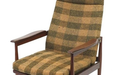 Vintage Scandinavian rosewood reclining chair with