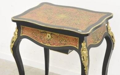 Work table in Boulle marquetry, Napoleon III period...