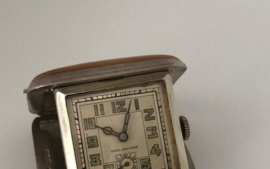 Yellow enamel Vintage watch Art deco