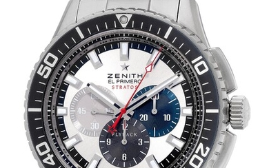 Zenith, Ref. 03.2066.405/69.M2060 An attractive stainless steel flyback chronograph wristwatch with date, warranty and presentation box