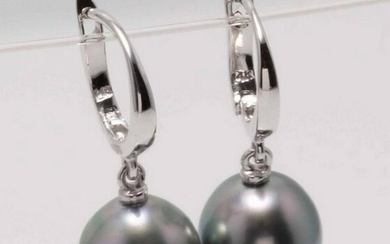 14 kt. White Gold - 10mm Tahitian Pearl Drops
