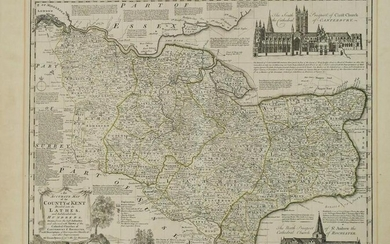 1777 Bowen Map of County Kent, England -- An Accurate