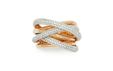 A Diamond and Pink Gold Ring