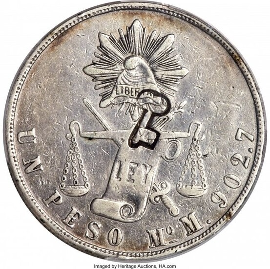 31379: Revolutionary Counterstamped Peso ND (1872-1877)