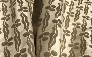 6 m x 130 cm Valuable magnificent double-sided damask fabric by San Leucio - Modern - silk cotton - 2017