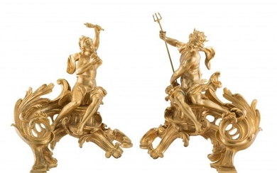61079: A Pair of French Louis XV-Style Gilt Bronze Chen
