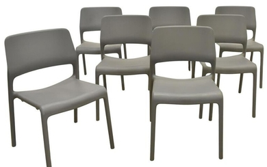 (7) DON CHADWICK KNOLL SPARK GREY STACKING CHAIRS