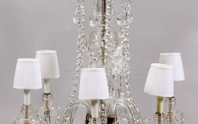 MARIE THERESE STYLE SIX LIGHT CRYSTAL CHANDELIER 25 DIA 24