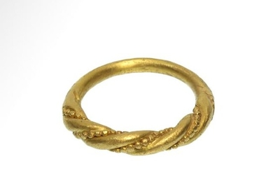 Viking Gold Twisted Ring, c. 10th -11th Century A.D.