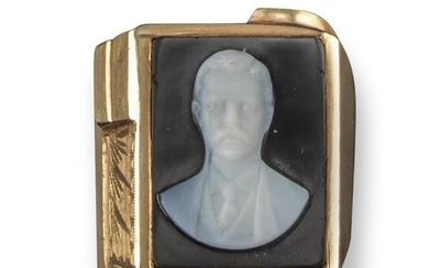 A 20th century cameo depicting President Theodore Roosevelt,...
