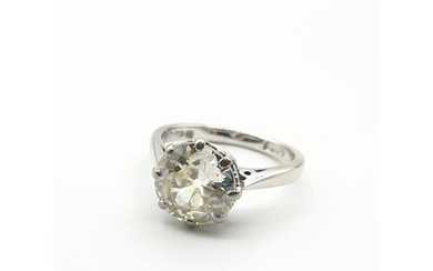 A 2.2ct Diamond Solitaire Ring in 18ct white Gold setting