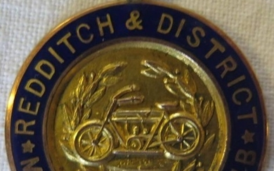 A 9ct Gold and Enamel Redditch & District Motor Cycle Club F...